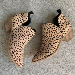 Dolce Vita Sonni leopard ankle booties NEW 8.5
